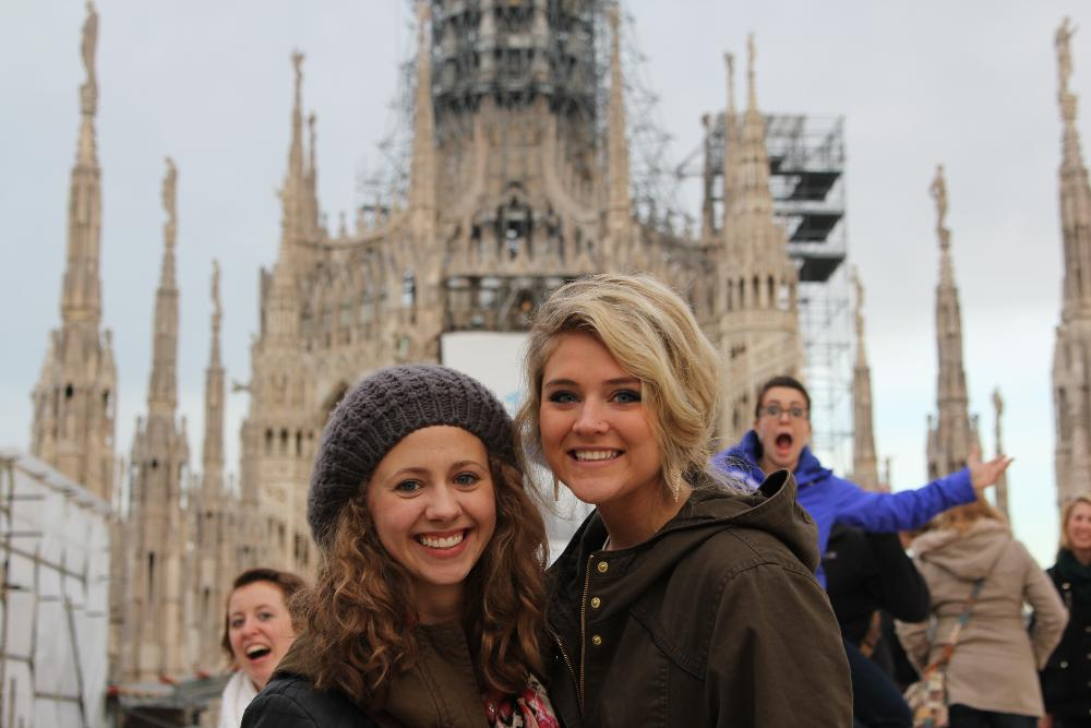Atop the Duomo in Milan